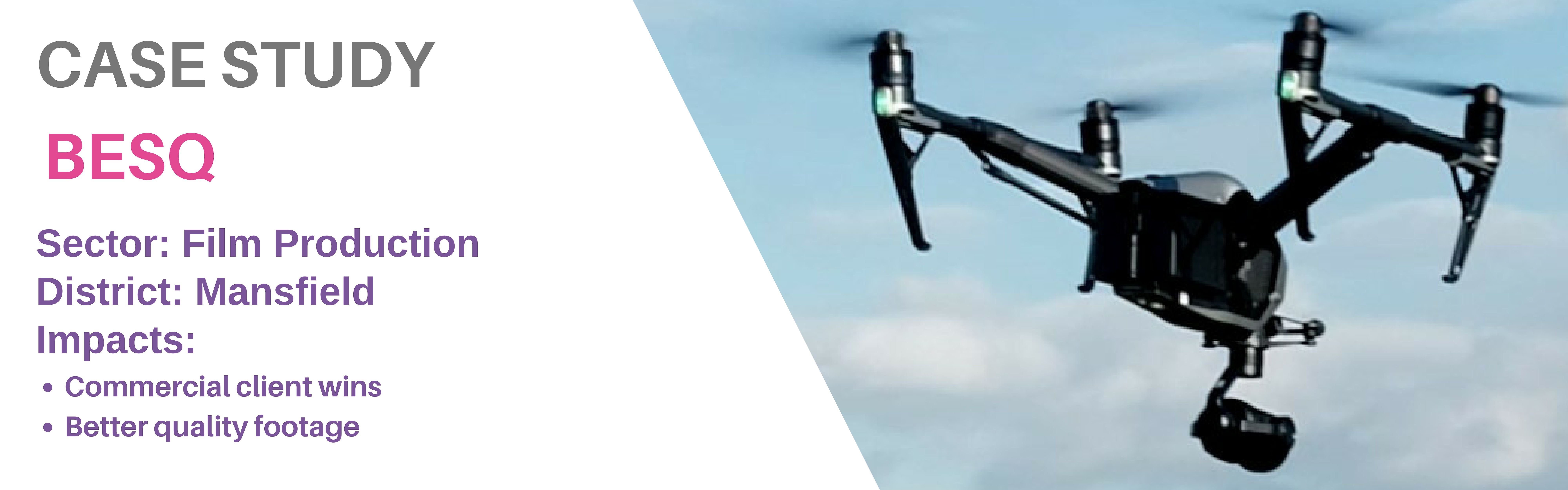Case Study page banner BESQ drone