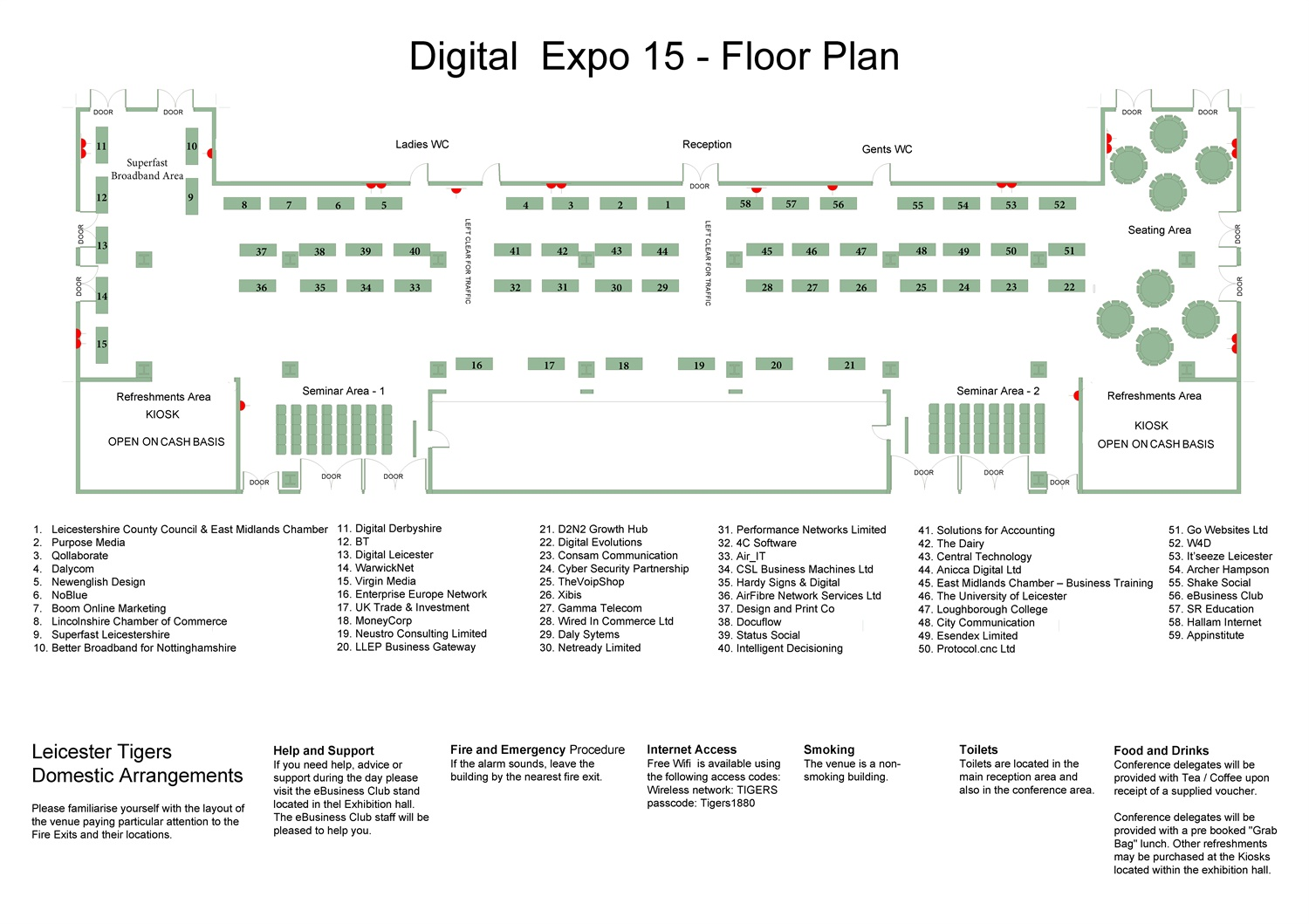 Digital Marketing Conf and Expo 2015 - Expo Floor Plan Final J