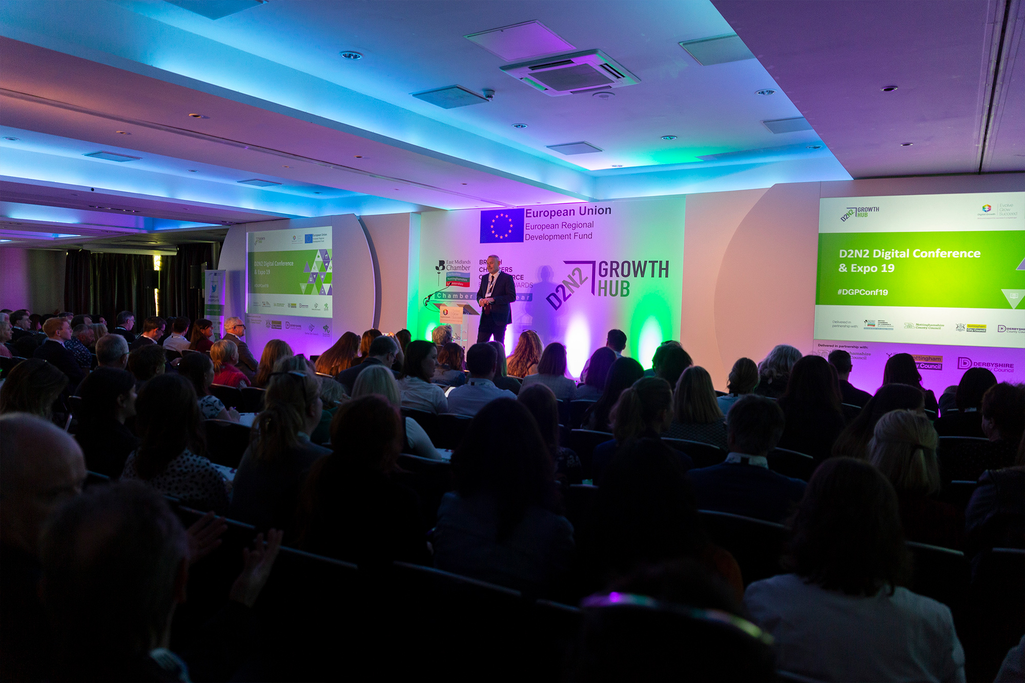 More than 300 local businesses attended the 2019 D2N2 Digital Conference.